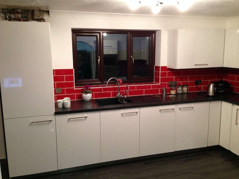 White Kitchen Red Tiles kitchen red black and white red black and white interiors living